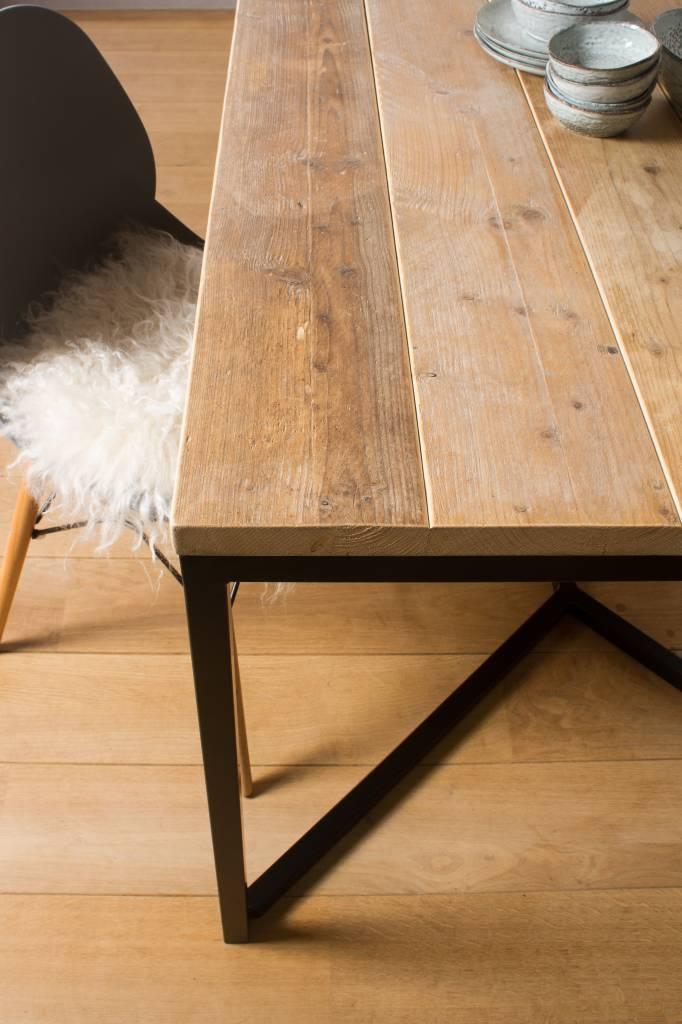 Farstad Industrieller Bauholz Tisch Untergestell Aus Stahl