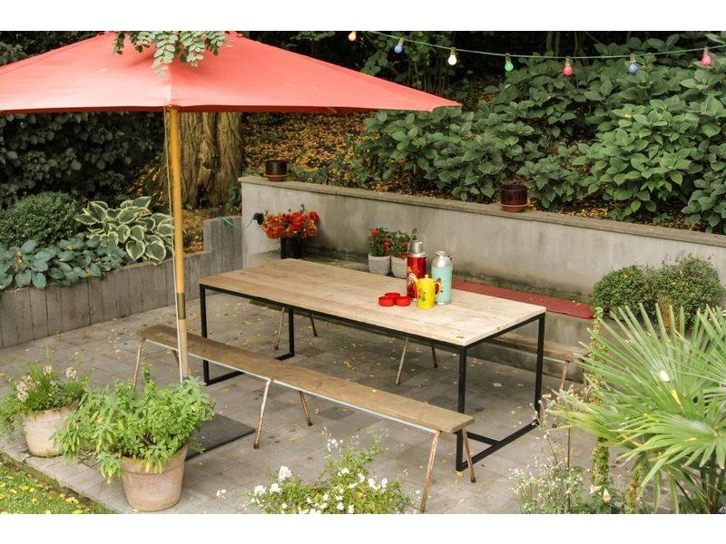 """""""Brandal Garten"""" Bauholz Tisch/ Untergestell aus Stahl"""