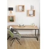 """""""Hedensted"""" industrieller Bauholz Tisch mit eingelegter Tischplatte/ Untergestell aus Stahl"""