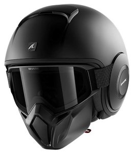 Shark Street Drak Matt Black motorcycle helmet