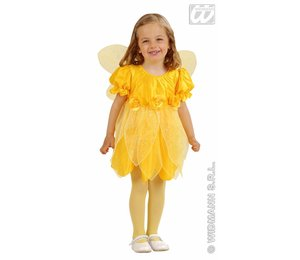 Babyfeestkleding kinderen: Fee gele bloem