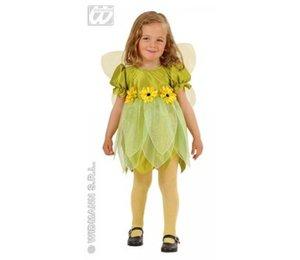 Babyfeestkleding kinderen: fee groene bloem