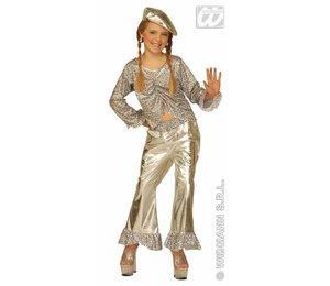 Babyfeestkleding kinderen: Jazz girl goud of zilver