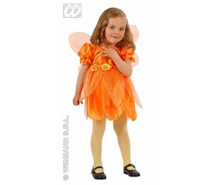 Baby feestkleding kinderen: fee oranje bloem