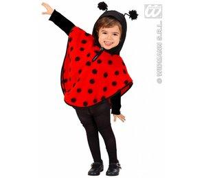 Kinderkostuum: Poncho Lieveheersbeestje