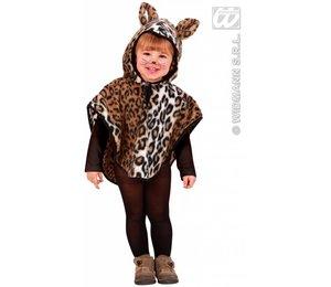Kinderkostuum: Poncho Luipaard