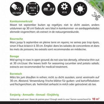 Moestuinplant Komkommer kruidenzaden