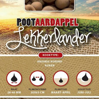 1 kilo Lekkerlander pootaardappel kruimig