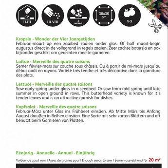 Moestuinplant Kropsla groentezaden