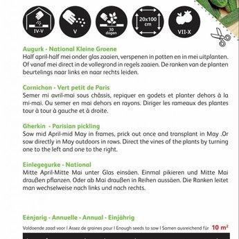 Moestuinplant Kleine Groene Augurk National