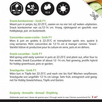 Moestuinplant Snack Komkommers