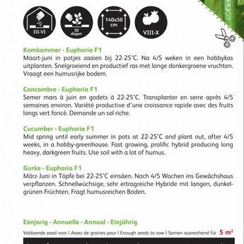 Moestuinplant Komkommer Euphoria F1 zaden