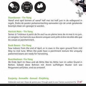 Moestuinplant Stambonen Yin Yang 15 gram zaden