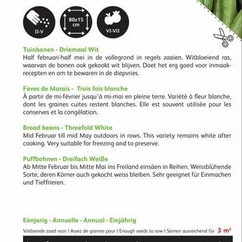 Tuinbonen Driemaal Wit zaden