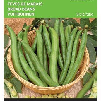 Moestuinplant Tuinbonen Driemaal Wit zaden
