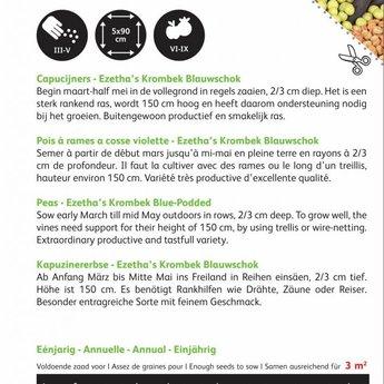 Moestuinplant Capucijners Krombek Blauwschok zaden