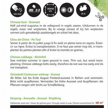 Moestuinplant  Chinese Kool Granaat zaden