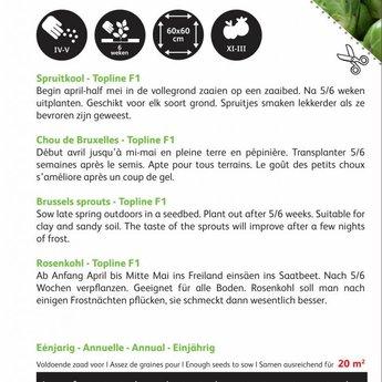Moestuinplant Spruitkool Topline F1 zaden
