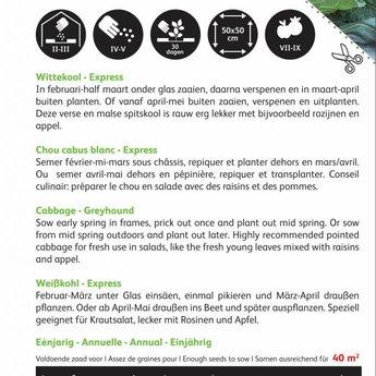 Moestuinplant Wittekool Express zaden