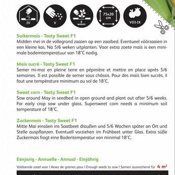 Moestuinplant Suikermais Tasty Sweet F1 zaden