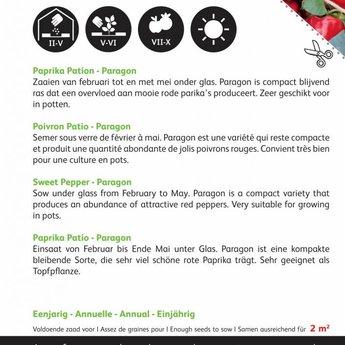 Moestuinplant Paprika Snack Patio - rood – Paragon zaden