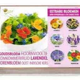 Moestuinplant Kweekset Eetbare Bloemen