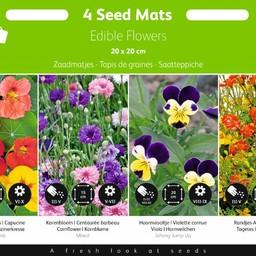 Moestuinplant Zaadmatjes Eetbare Bloemen