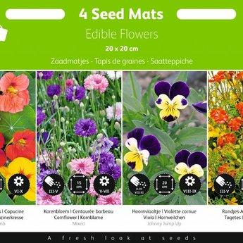Moestuinplant Zaadmatjes Eetbare Bloemen 4 matjes