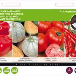 Moestuinplant Zaadmatjes Fruitgroente