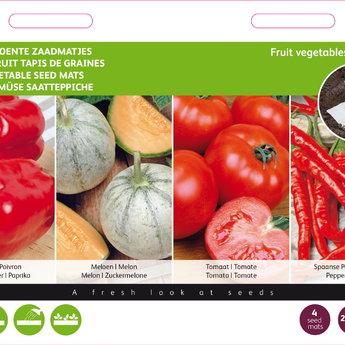 Moestuinplant Zaadmatjes Fruitgroente 4 matjes