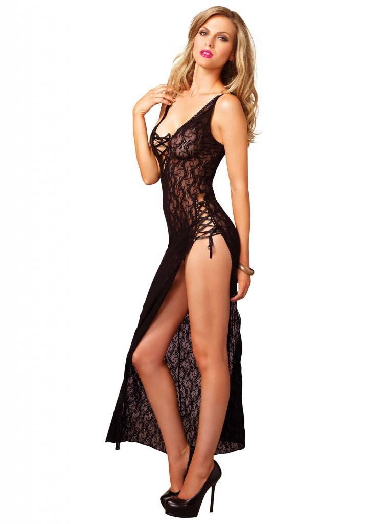 High slit lace