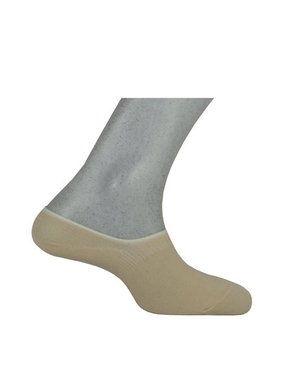 Hoge sneaker sokken met antislip op de hak