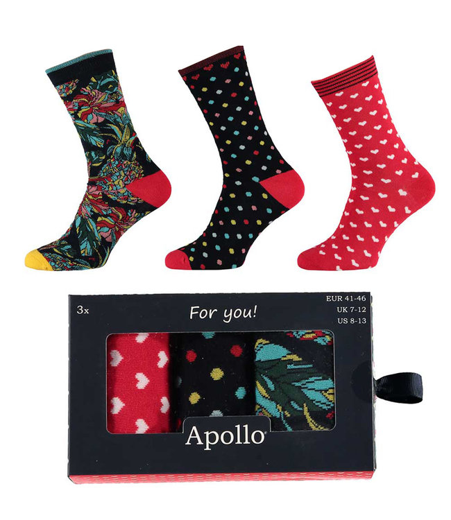 Apollo Heren sokken giftbox 3 paar
