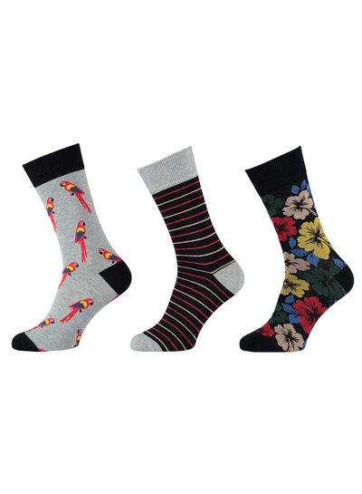 Apollo Katoenen sokken met een vrolijke dieren en bloemen print