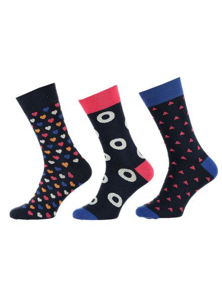 Apollo 3 paar sokken met een vrolijke print
