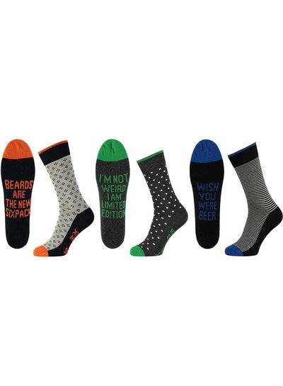Apollo Katoenen sokken met een vrolijke tekst
