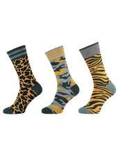 Apollo 3 paar sokken met een vrolijke dierenprint