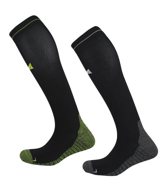 Xtreme sockswear Compressie sport kniekousen 2 paar