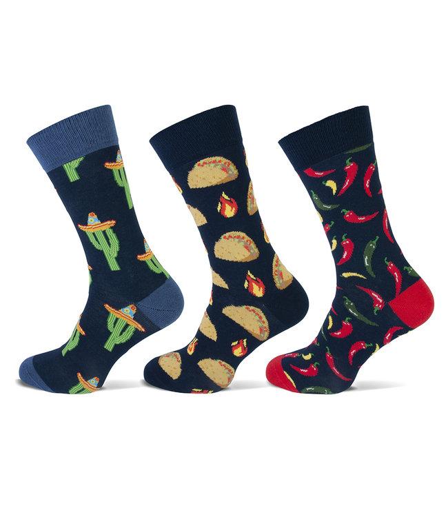 Teckel Vrolijke heren sokken Mexico gemaakt van katoen en volledig naadloos