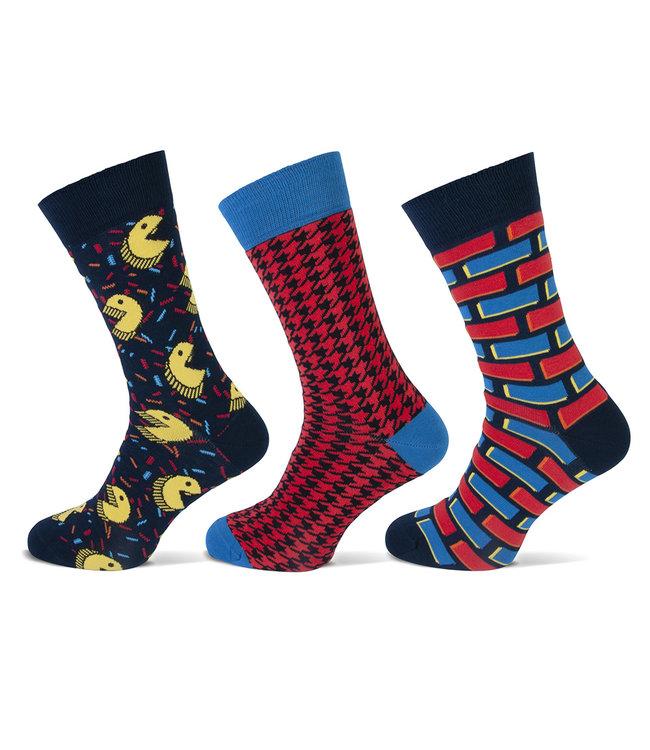 Teckel Vrolijke heren sokken Pacman gemaakt van katoen en volledig naadloos