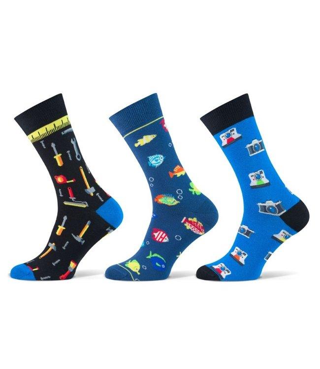 Teckel Vrolijke heren sokken hobby 3 paar volledig naadloos