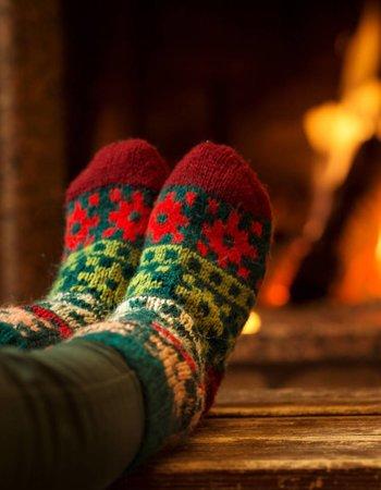 Warme huissokken