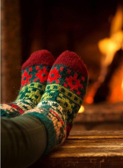 Warme en zachte huissokken