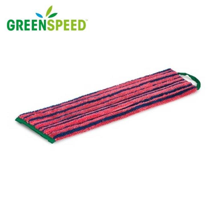 Microvezel vlakmop Rood  met schrobeffect