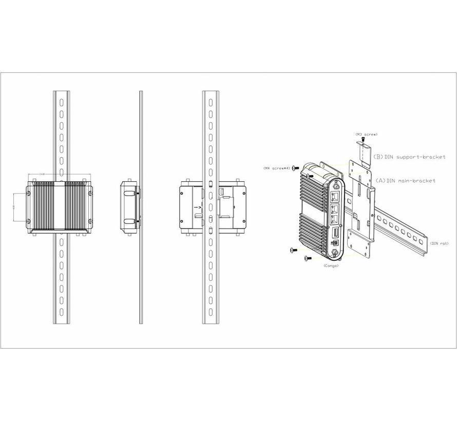 DIN rail mounting bracket voor IBR1100/IBR1150