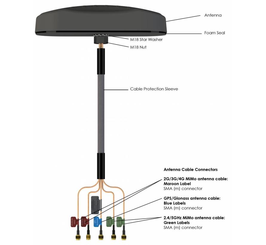 MiMo 5 in 1 LTE/GPS/WiFi antenne