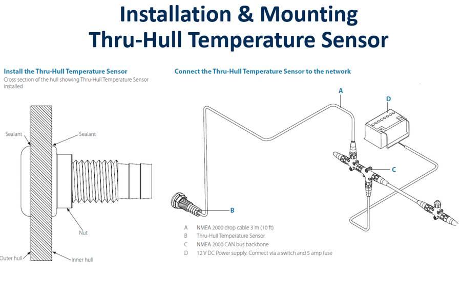 Navico Thru-Hull Temperature Sensor Nmea 2000 000-11521-001