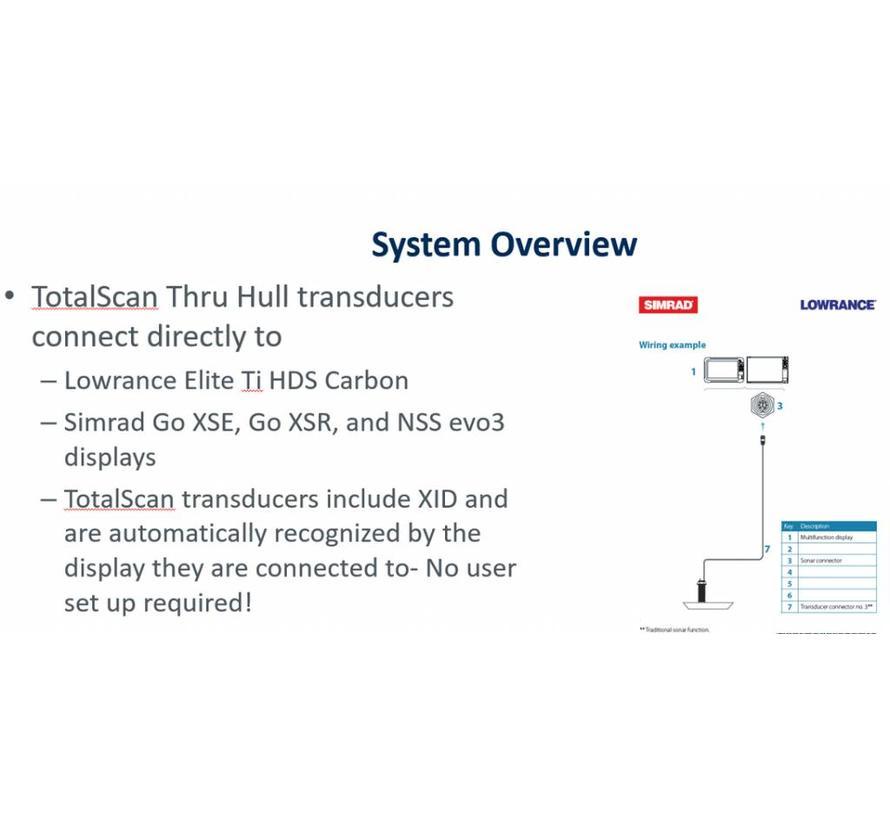 StructureScan 3D M/H  thru hull transducer