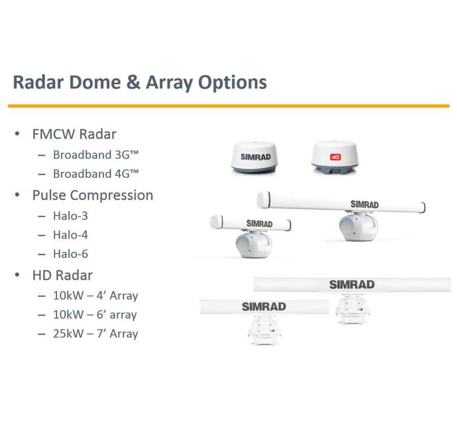 R3016 10 kW HD radar bundel met 4 voet antenne