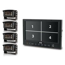 "7"" QUAD camera systeem met 4 camera's"